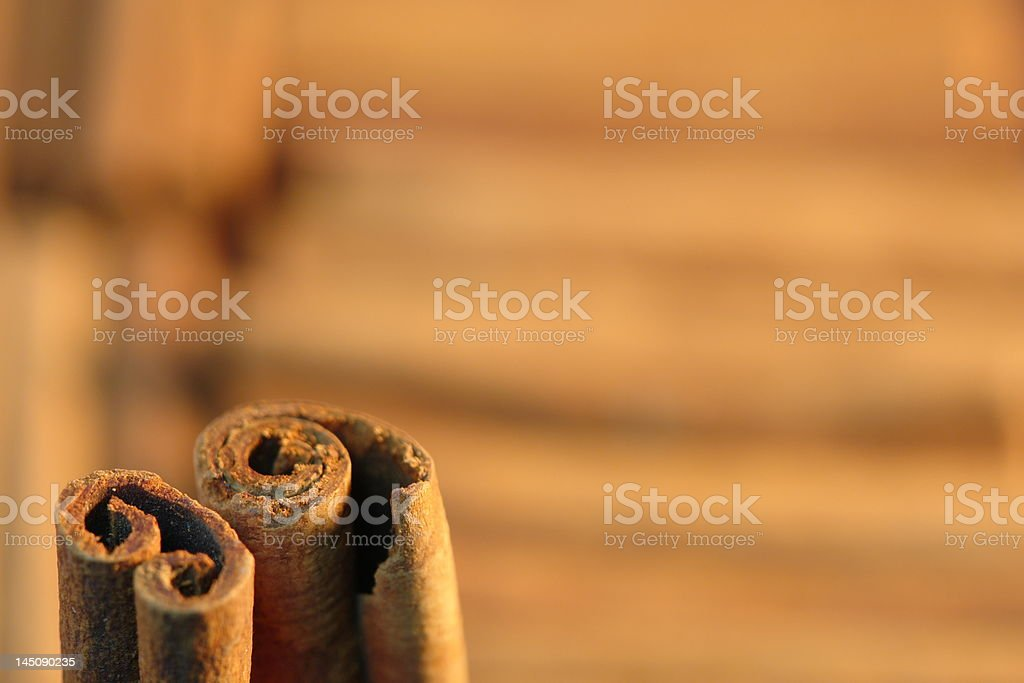 Close-up of cinnamon sticks royalty-free stock photo