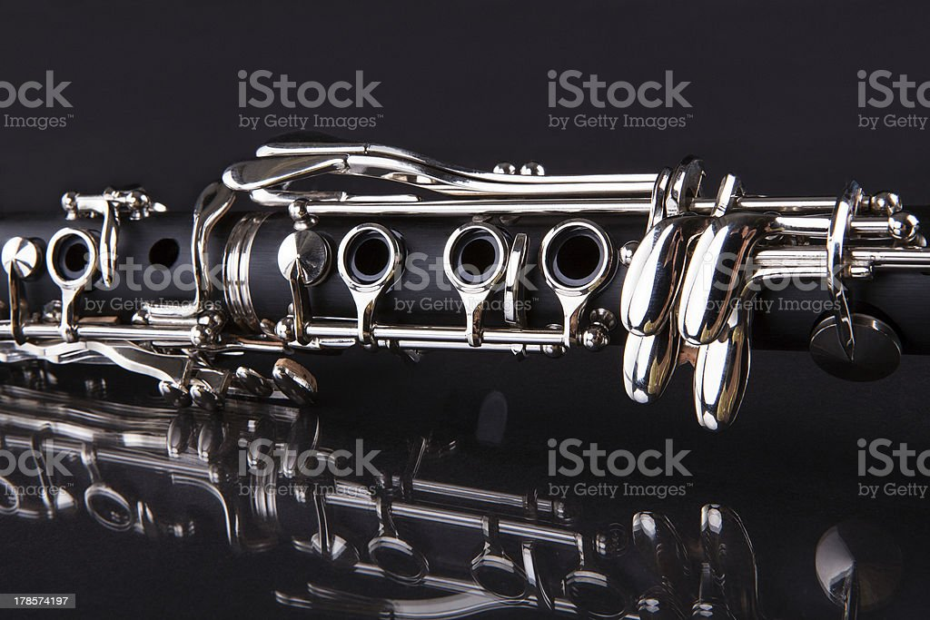 Close-up Of Clarinet stock photo