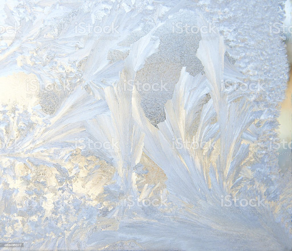 Closeup of clean and thin-looking ice with varying textures stock photo