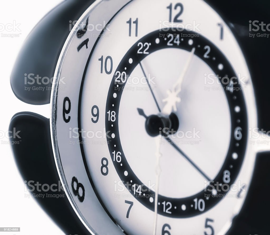 Close-up of clock royalty-free stock photo