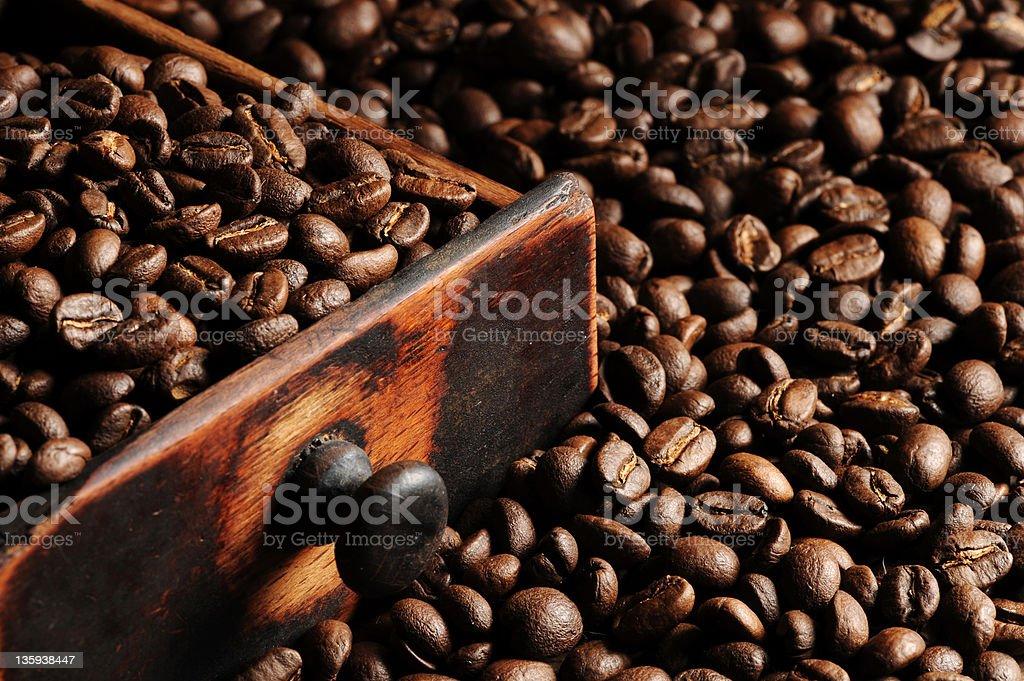 Gros plan de grains de café photo libre de droits
