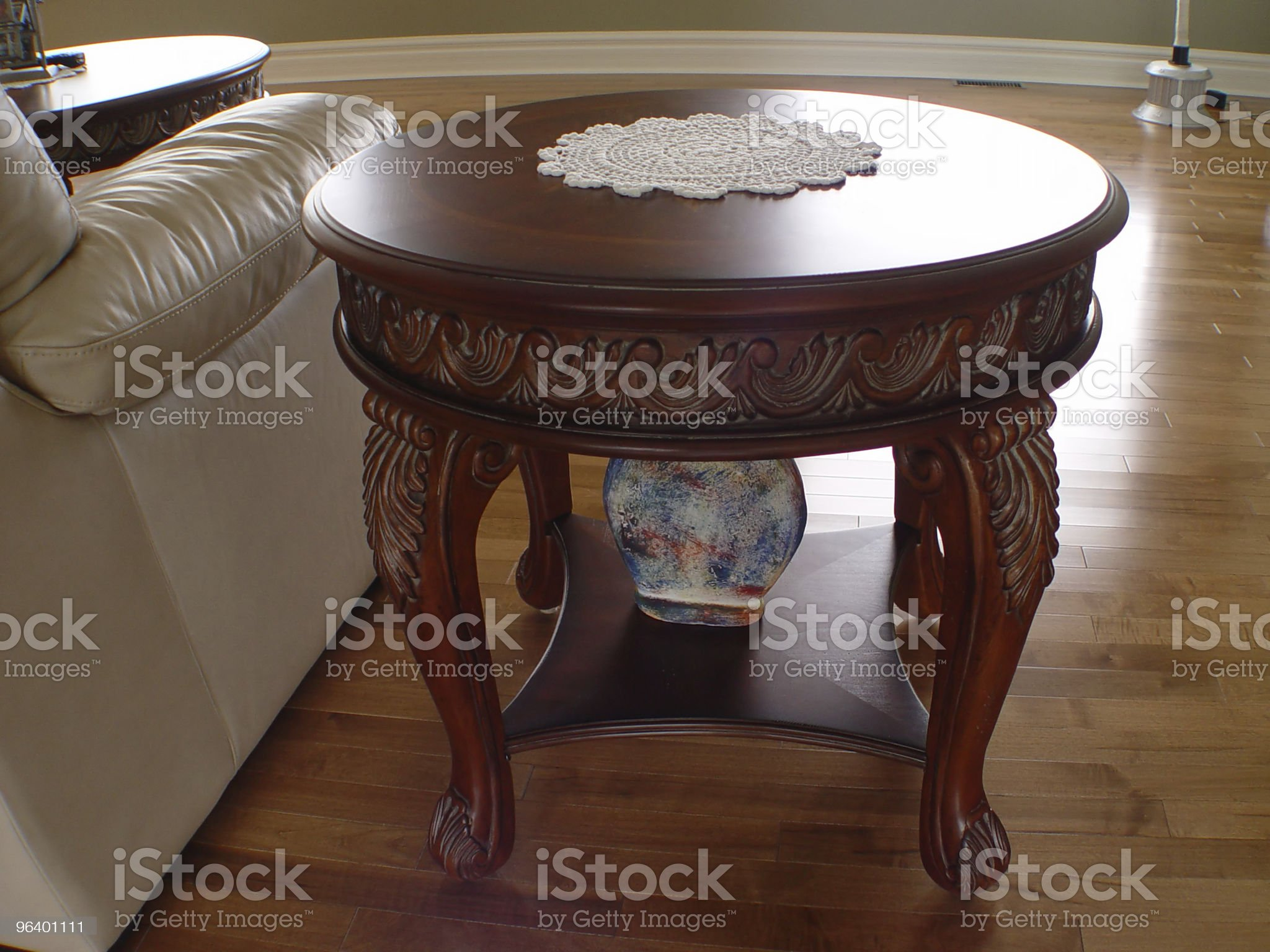 Closeup of Coffee Table royalty-free stock photo