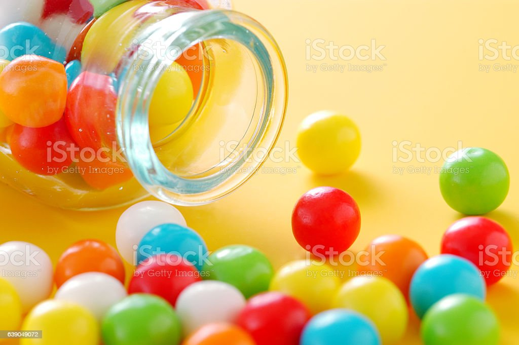 Close-up of colourful candy stock photo