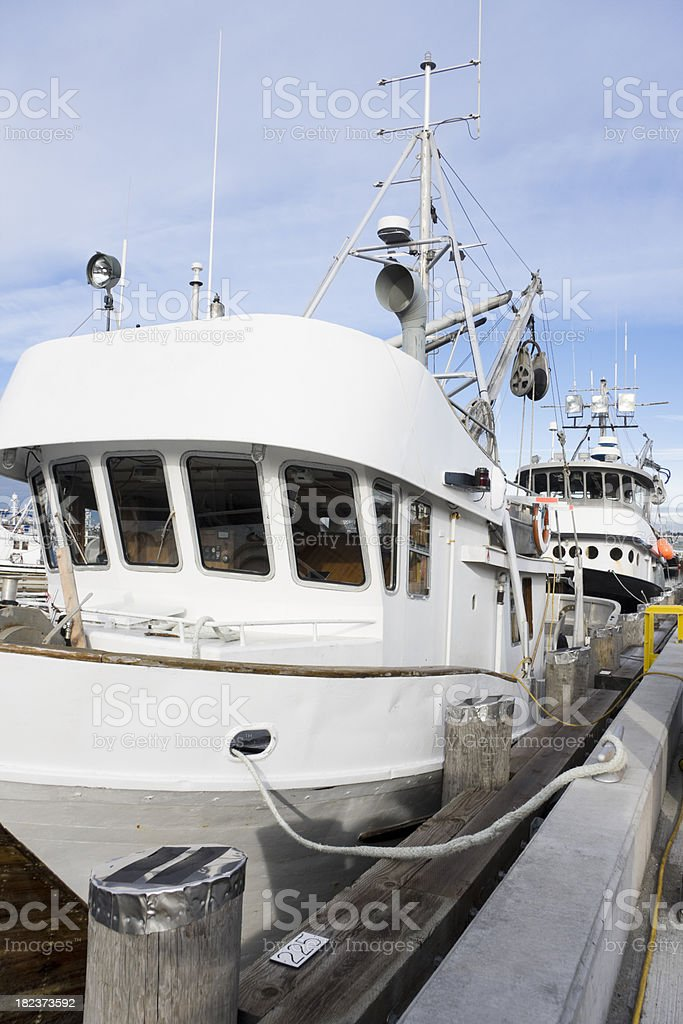 Close-up of Commercial Fishing Boat royalty-free stock photo