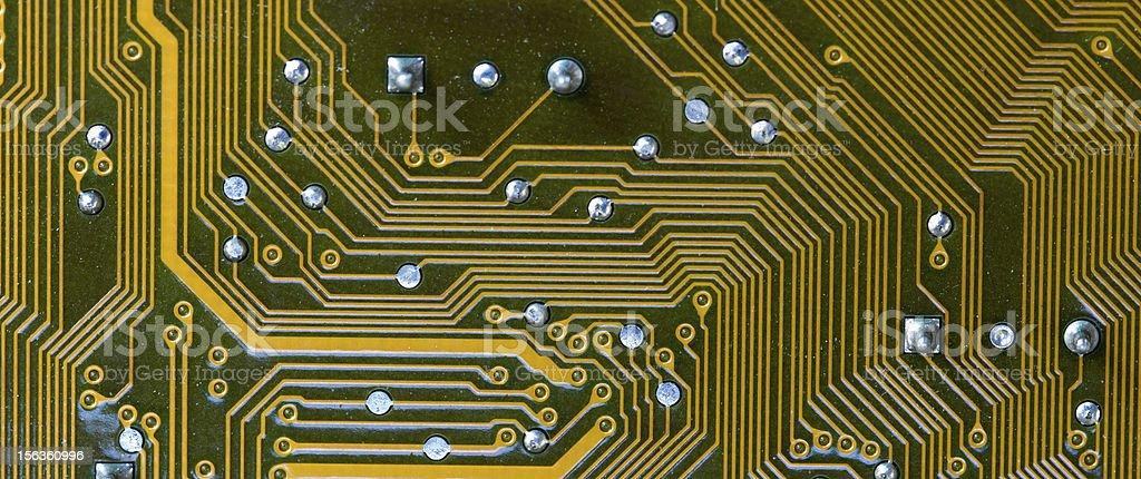 Closeup of computer micro circuit board royalty-free stock photo