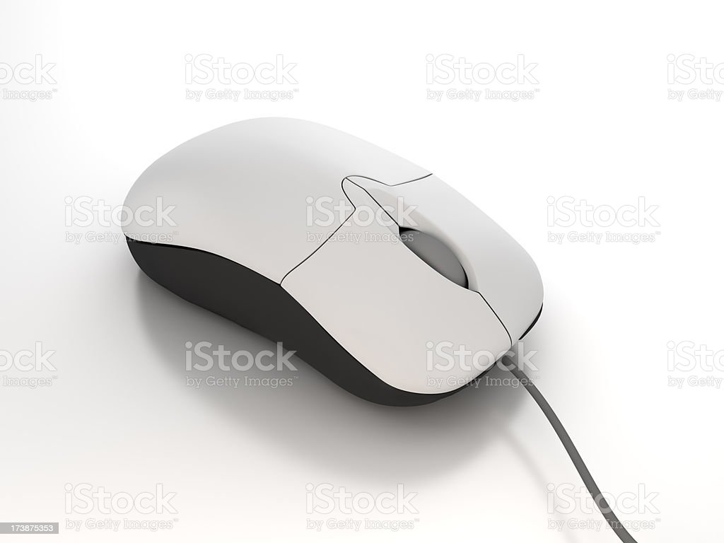 Closeup of computer mouse - clipping path royalty-free stock photo
