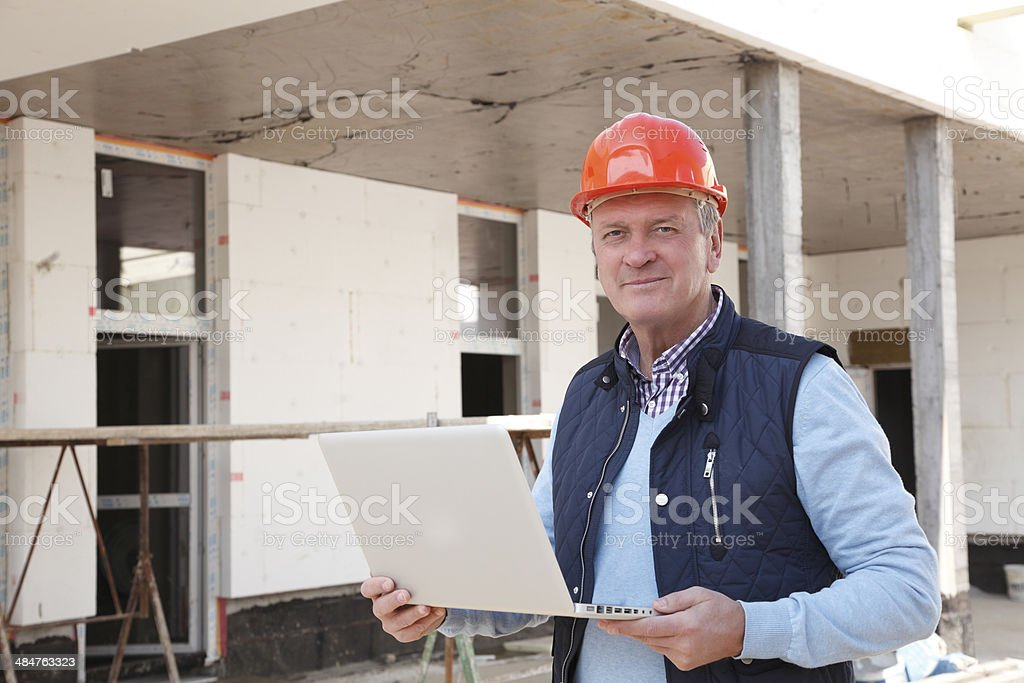 Close-up of construction worker stock photo