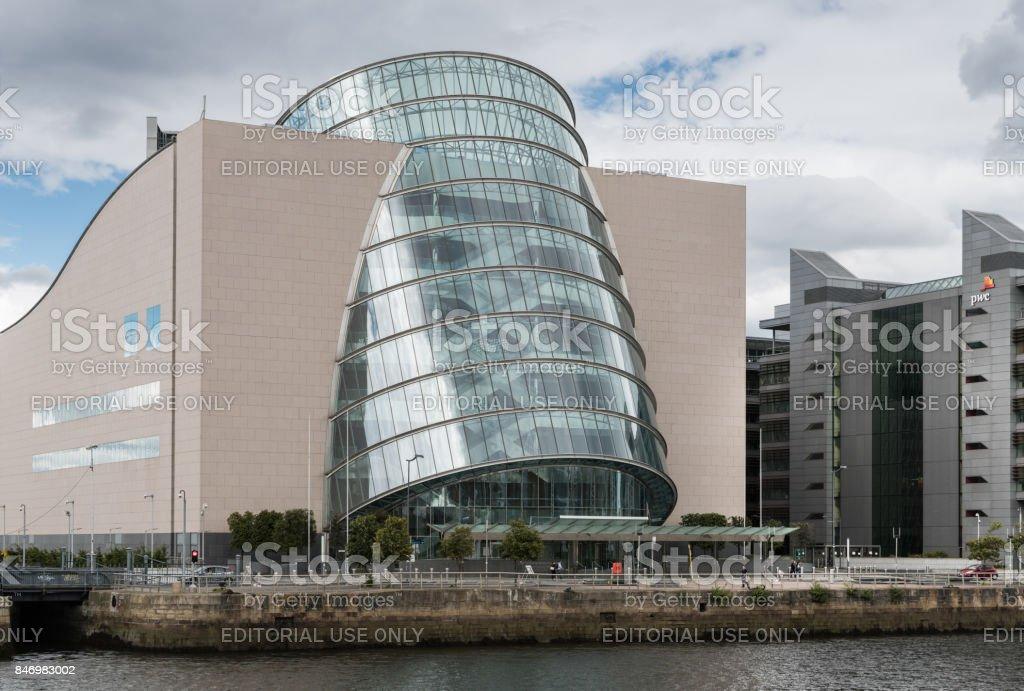 Closeup of Convention Center in Dublin, Ireland. stock photo