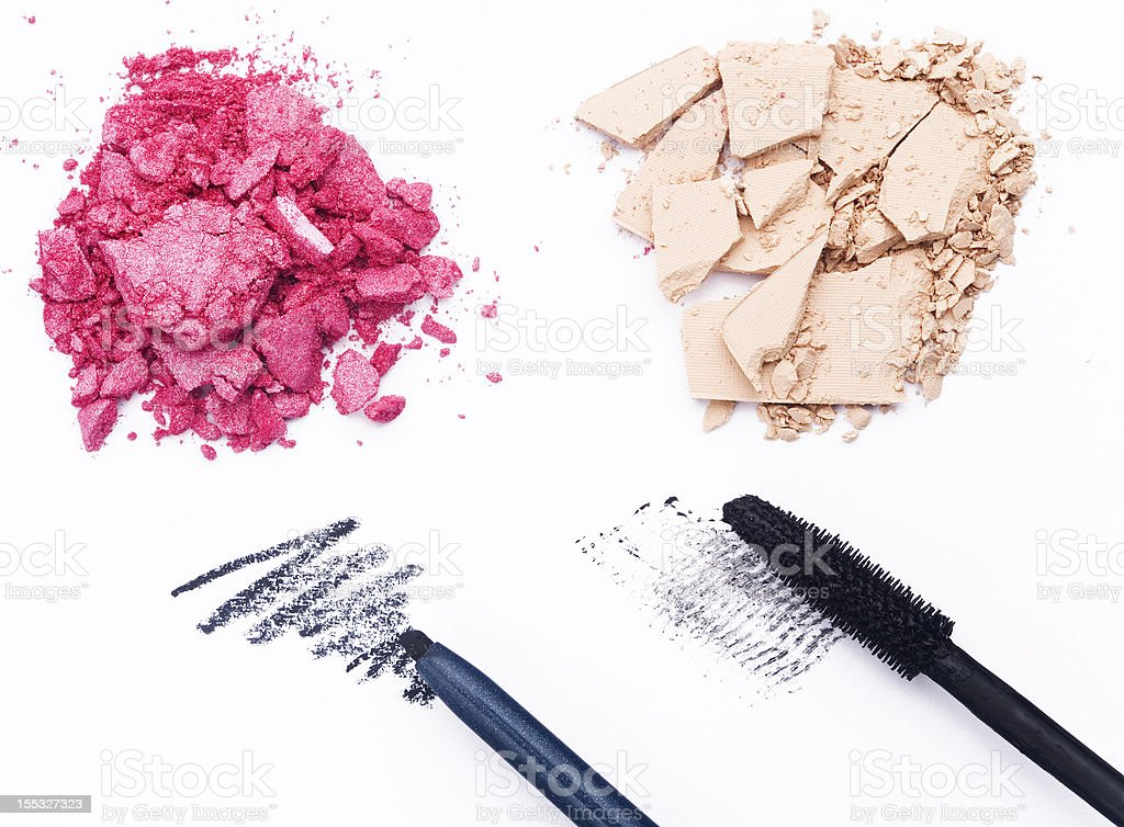 Close-up of cosmetics products royalty-free stock photo
