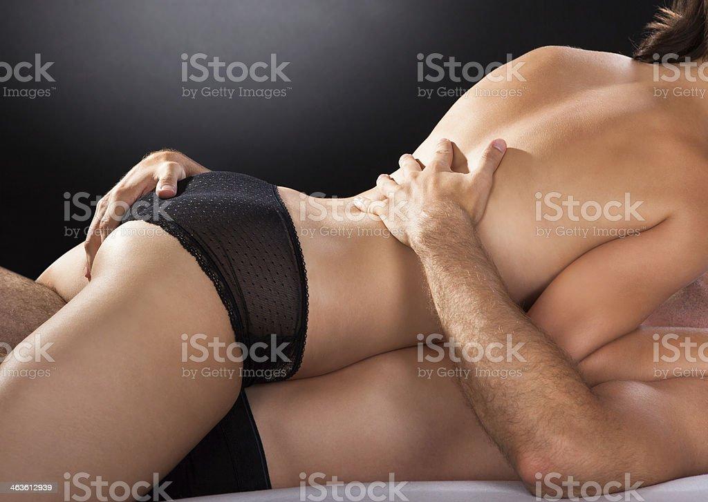 Primer plano de una pareja al sexo - foto de stock