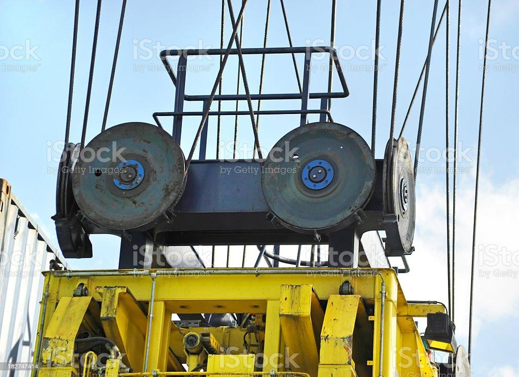 close-up of crane stock photo
