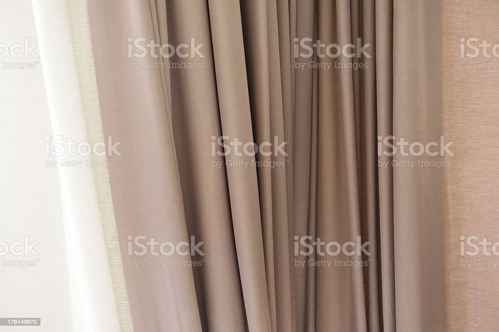Close-up of Curtain royalty-free stock photo