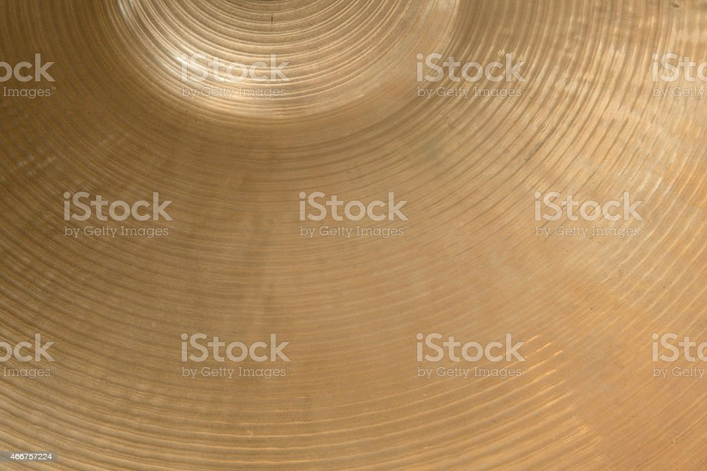 closeup of cymbal stock photo