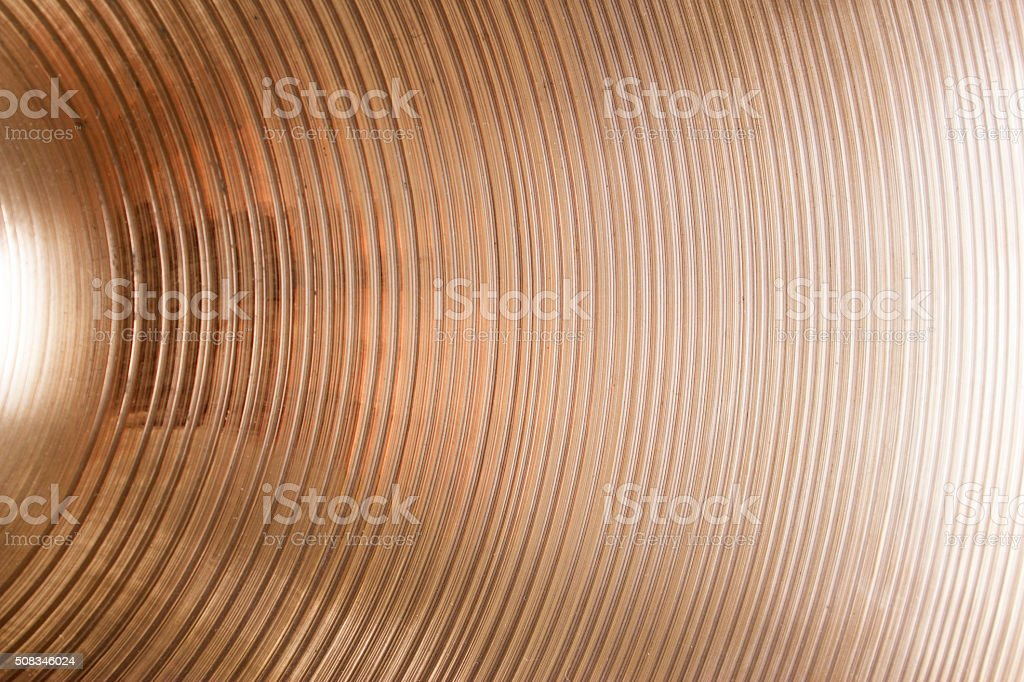 closeup of cymbal stock photo
