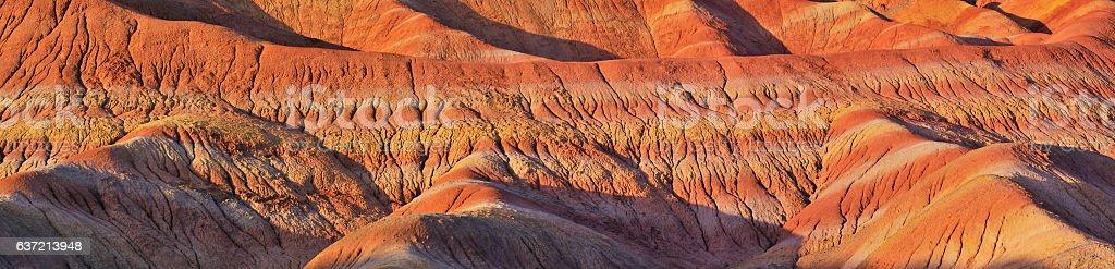 Close-up of Danxia Landform Panoramic stock photo