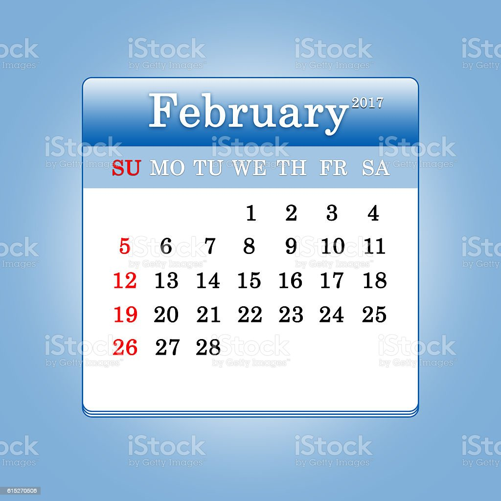 Closeup of dates on calendar page stock photo