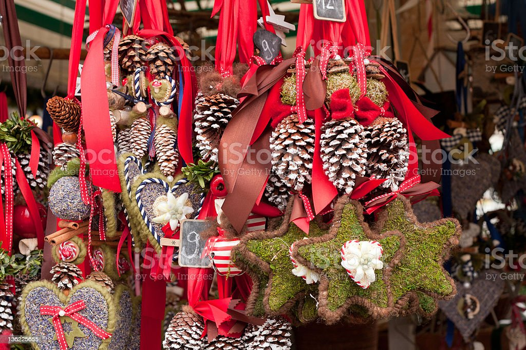 A close-up of decorations in Munich, Germany stock photo