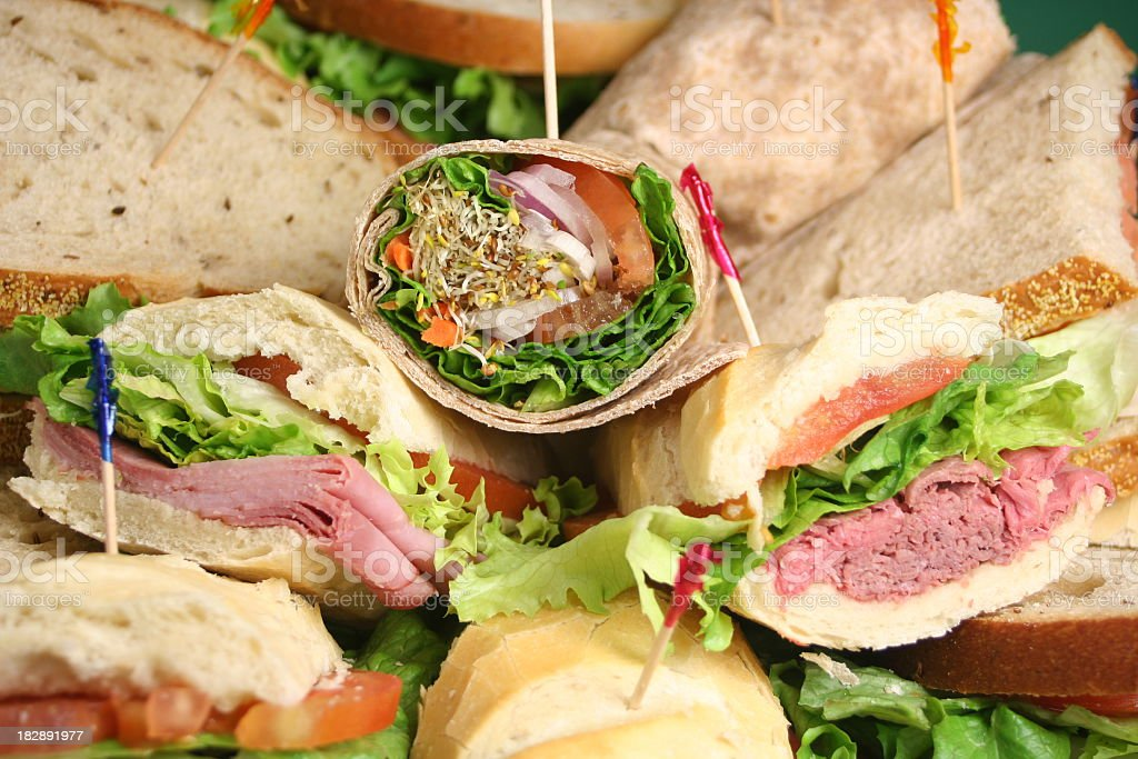 Close-up of delicious party platter stock photo