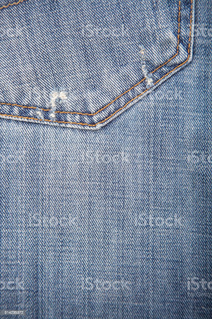 Close-Up of Denim Jeans With Back Pocket stock photo
