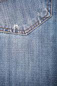 Close-Up of Denim Jeans With Back Pocket