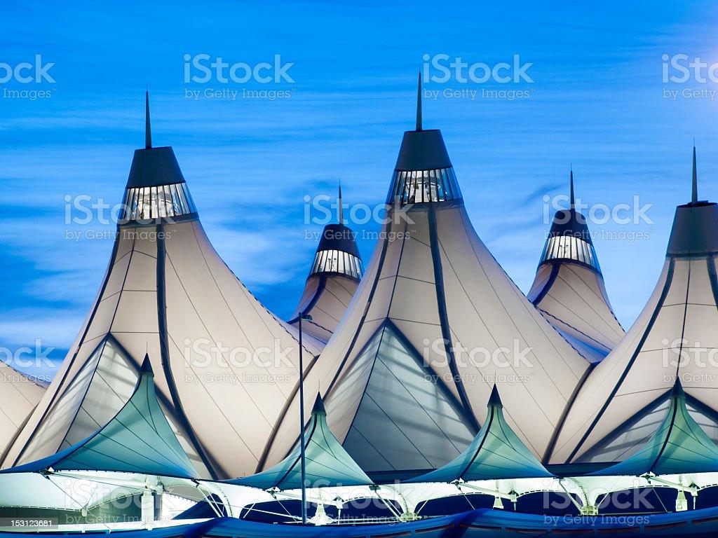 Close-up of Denver international airport stock photo