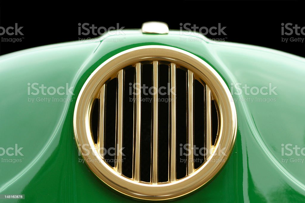 Close-up of details from retro car royalty-free stock photo