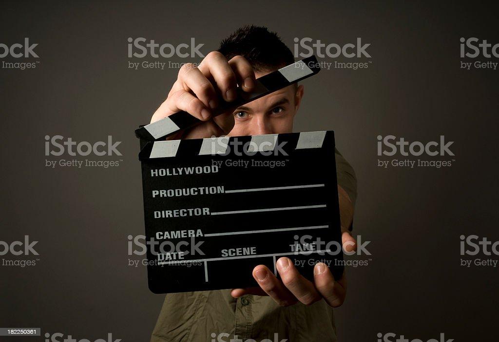 Closeup of directors board ready to be shut stock photo