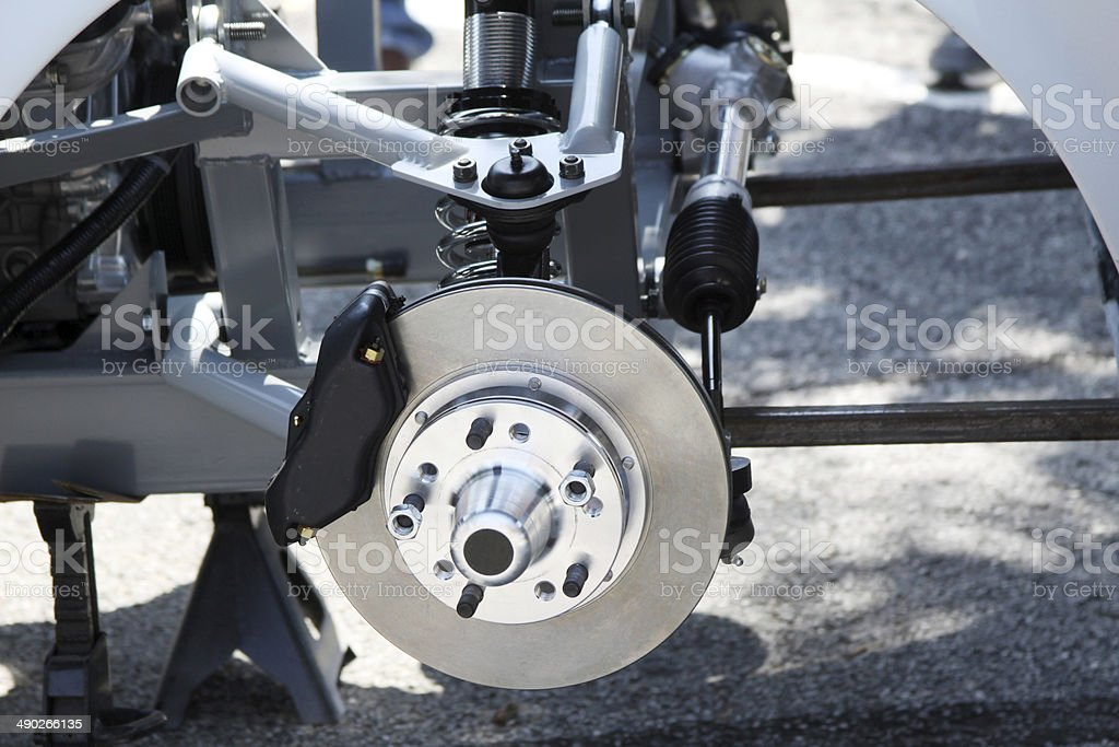 Closeup of Disc Brakes of Automobile royalty-free stock photo