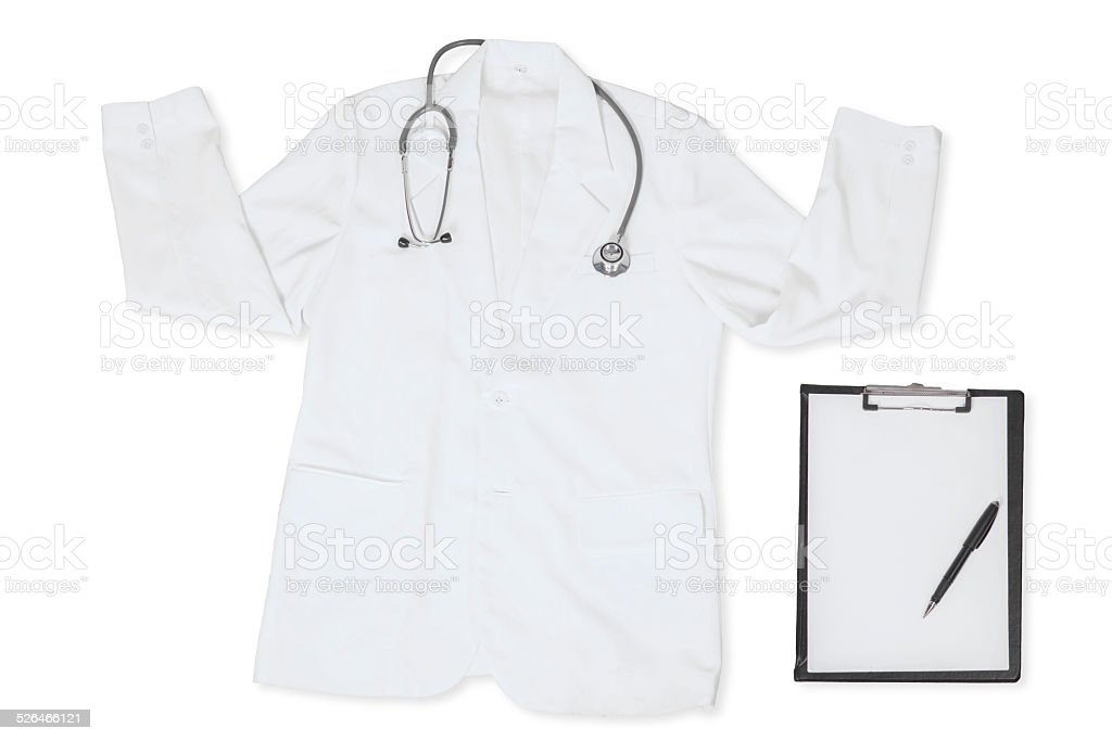 Closeup of doctor clothes stock photo
