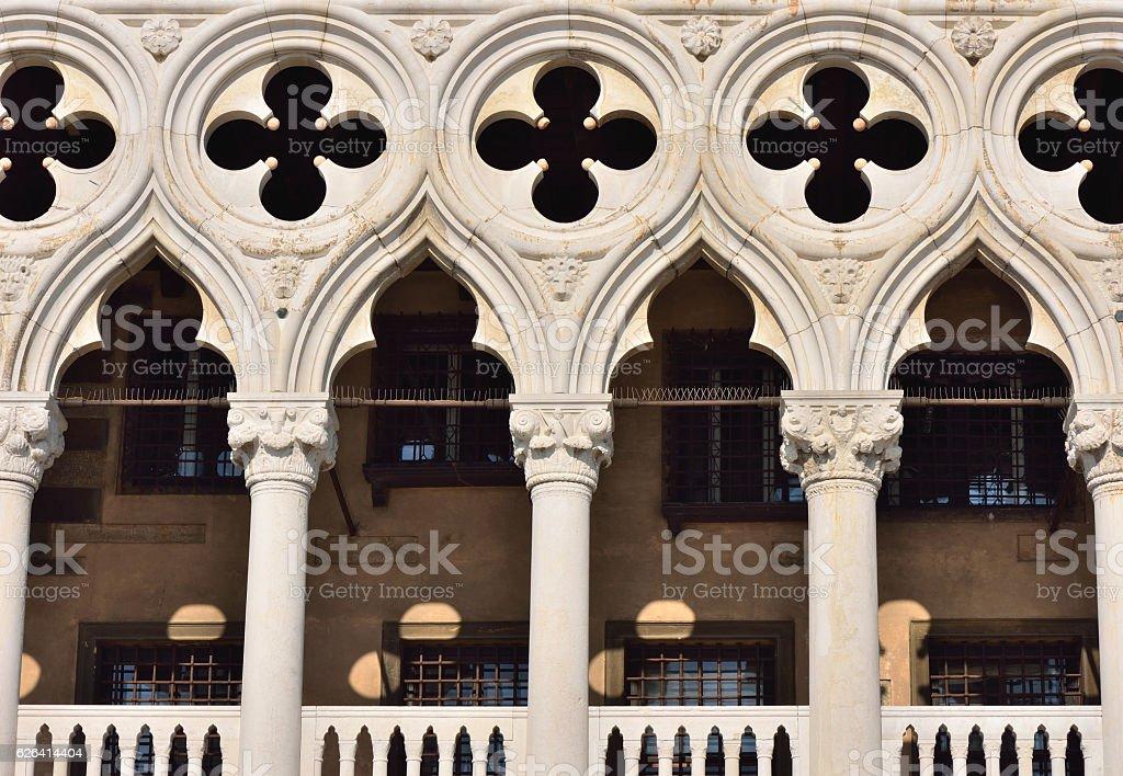 Close-up of Doge's Palace, Venice stock photo
