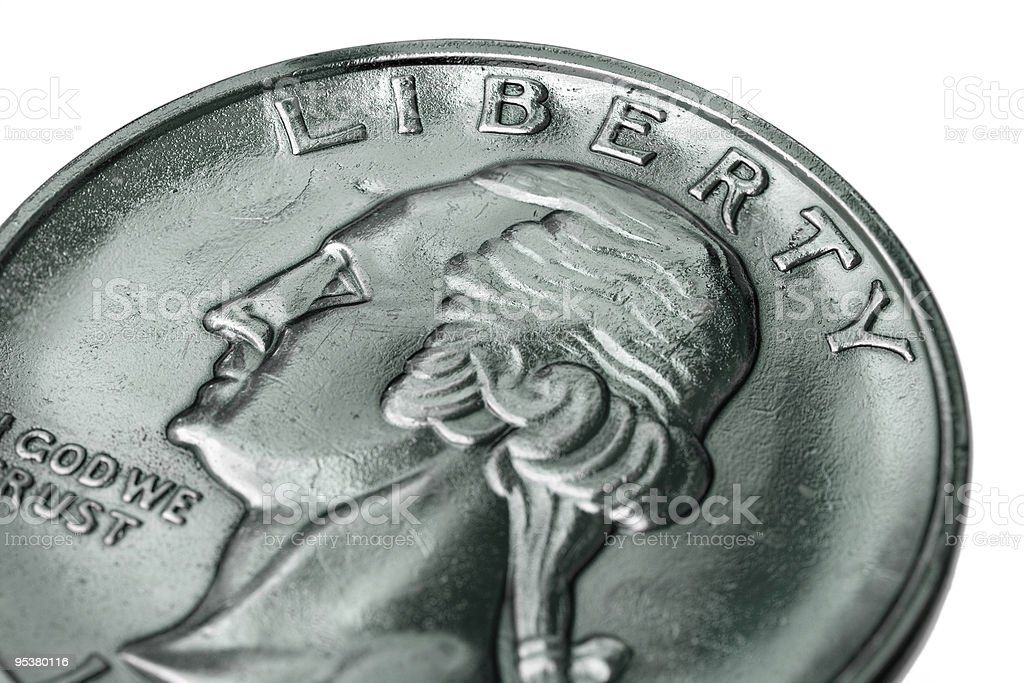 Close-up of dollar coin stock photo