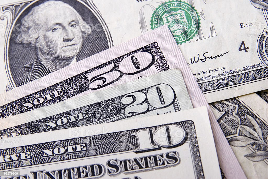 close-up of dollars royalty-free stock photo
