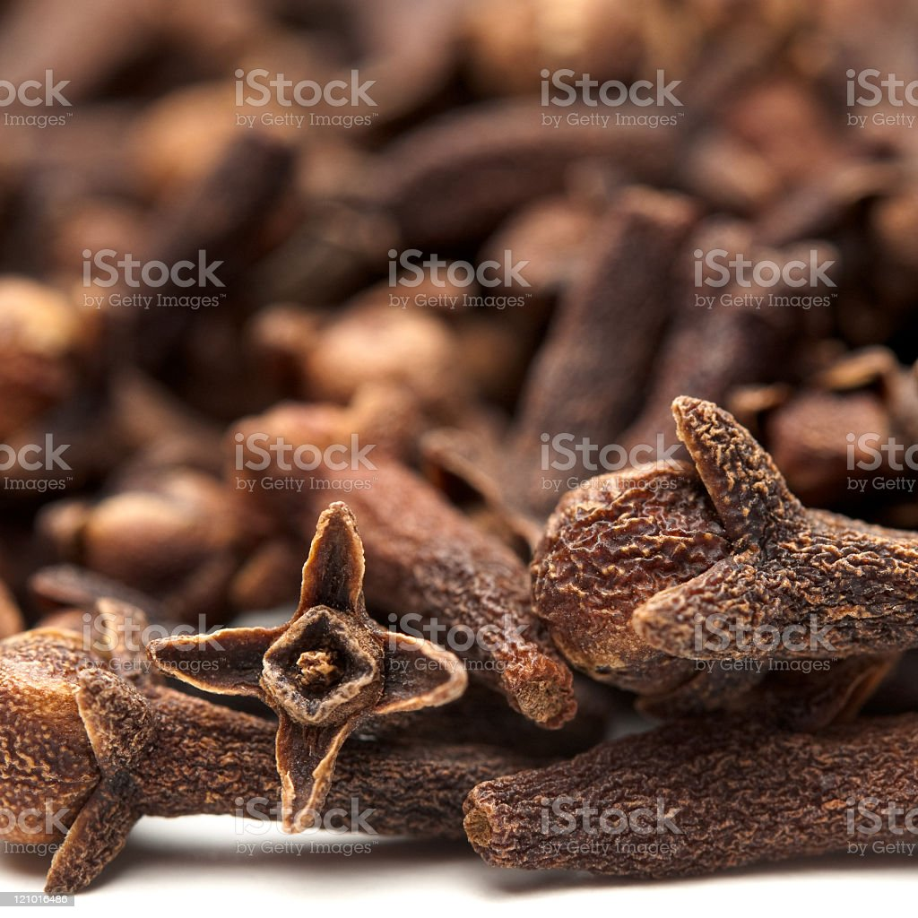Close-up of dried clove buds Eugenia Aromatica stock photo