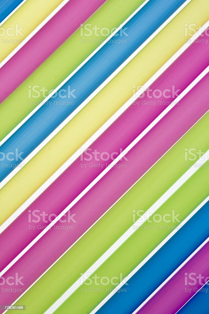 closeup of drinking straws royalty-free stock photo