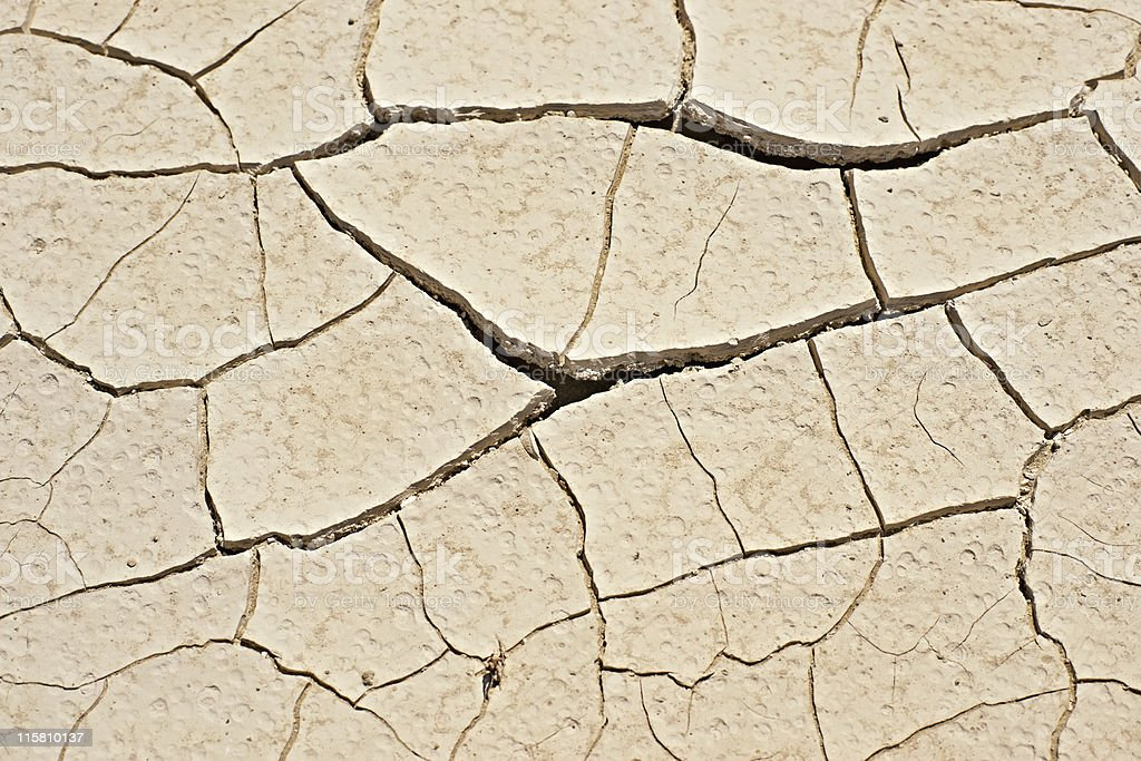 Close-up of dry soil royalty-free stock photo