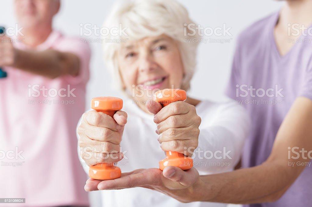 Close-up of dumbbells stock photo