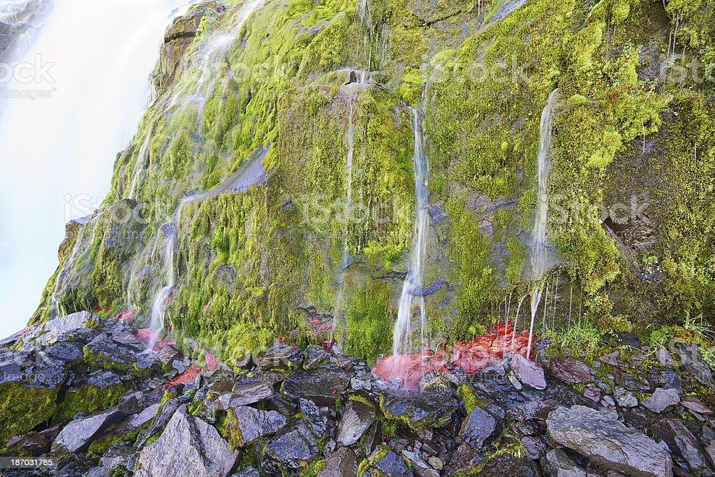 Close-up of Dynjandi waterfall. Westfjords. Iceland. royalty-free stock photo