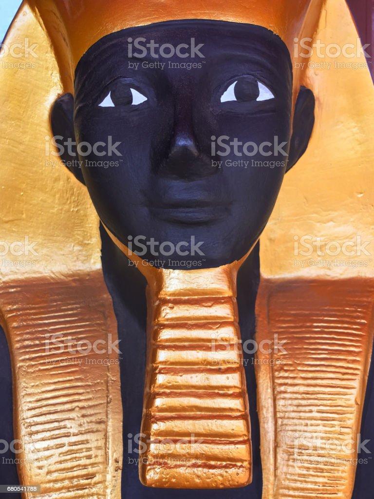 Closeup of egyptian statue stock photo