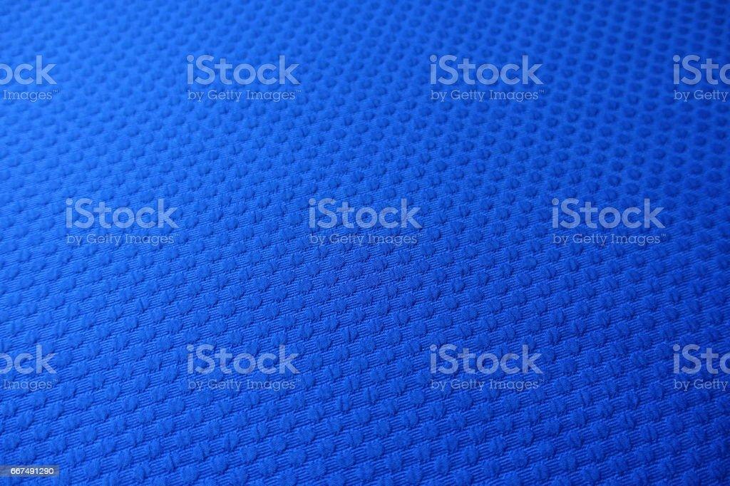 Close-up of electric blue jacquard fabric stock photo