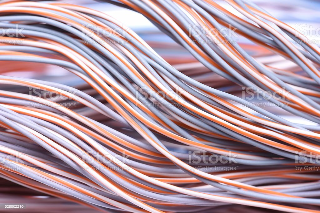 Closeup of Electric Cables stock photo