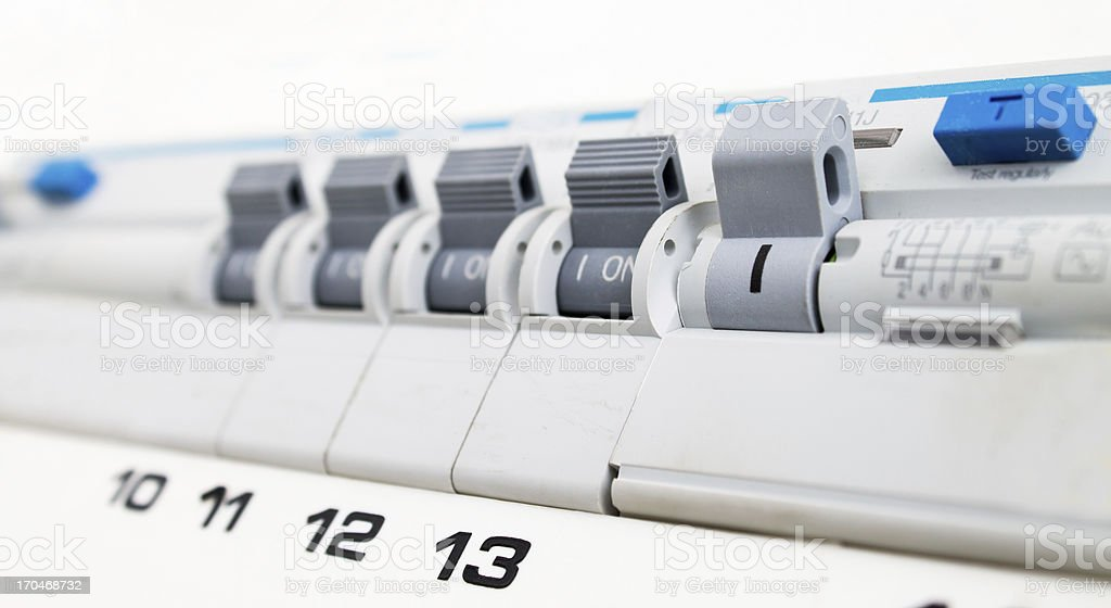 Close-up of electrical fuse stock photo