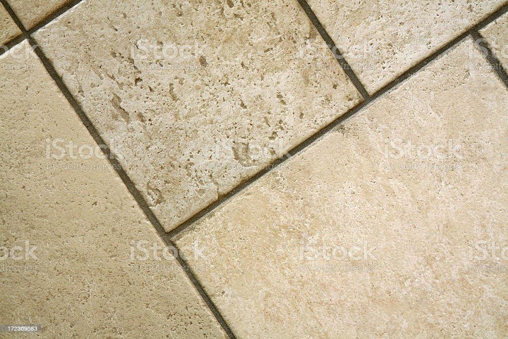 Close-up of empty ceramic Italian floor tiles, diagonal royalty-free stock photo