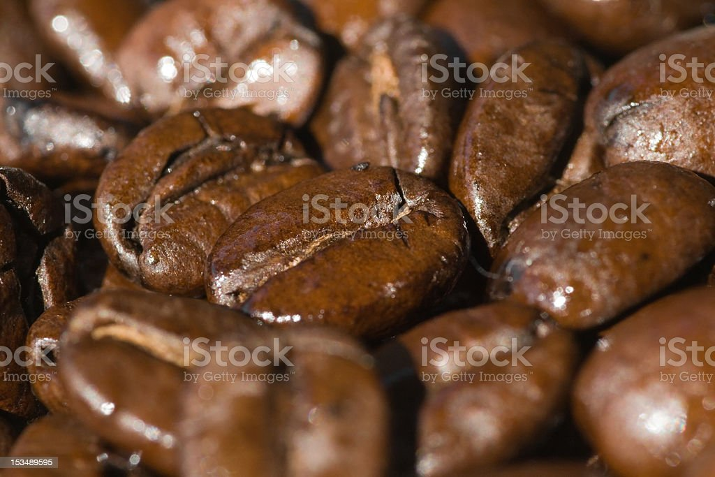 Close-up of espresso roast coffee beans royalty-free stock photo