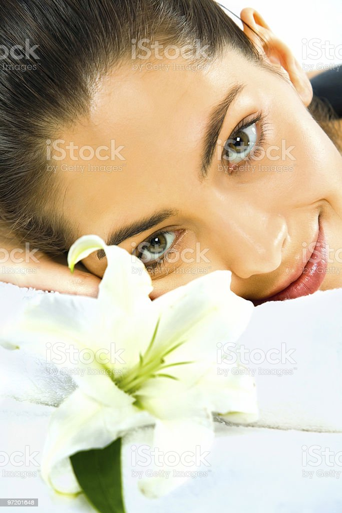 Close-up of face royalty-free stock photo