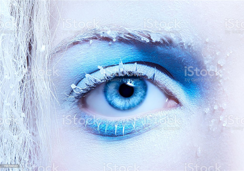 close-up of fantasy make-up royalty-free stock photo