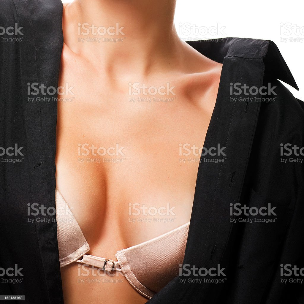 Gros plan de femme la brassière photo libre de droits