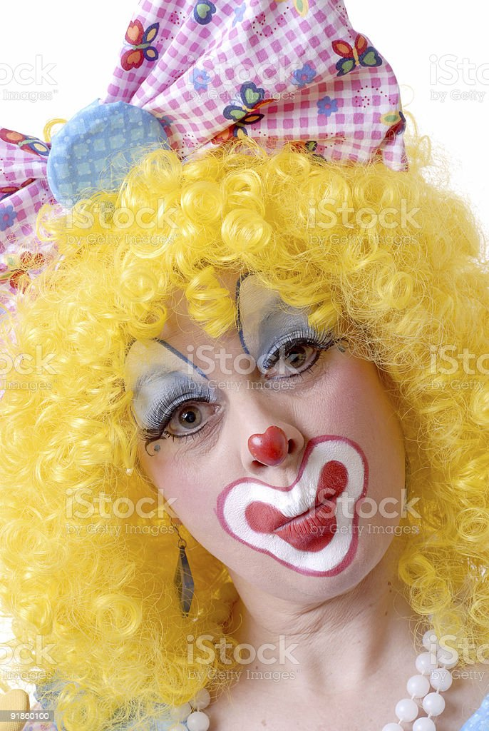 Close-up Of Female Clown royalty-free stock photo