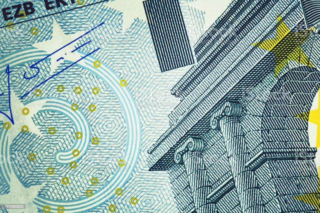 Close-up of Five Euro Banknote | Finance and Business royalty-free stock photo
