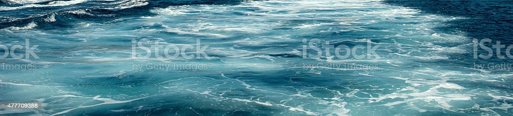 Close-up of foamy sea surface stock photo