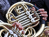 French horn in orchestra